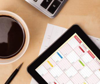 Gestion du temps et agenda sur tablette