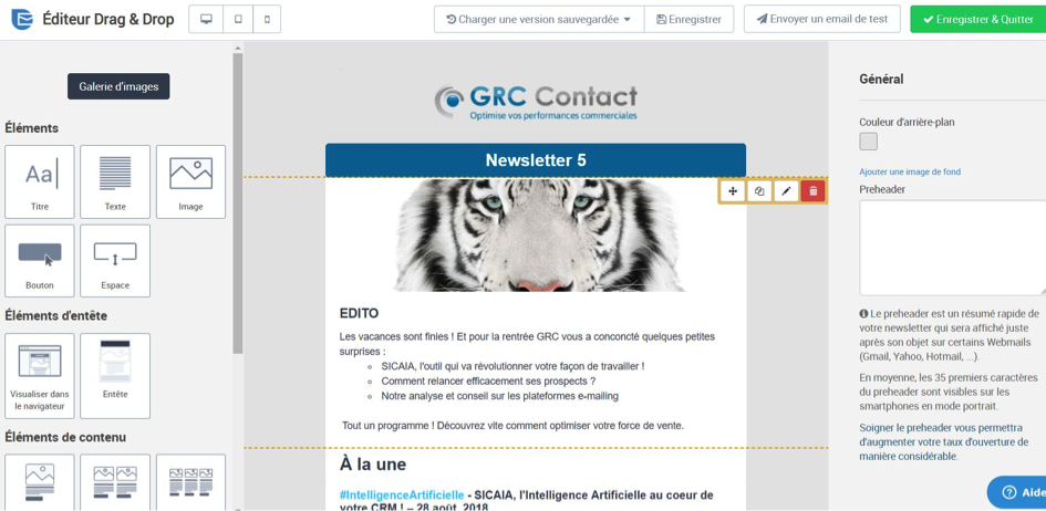 MAILING SENDINBLUE COUPLE AVEC CRM GRC CONTACT